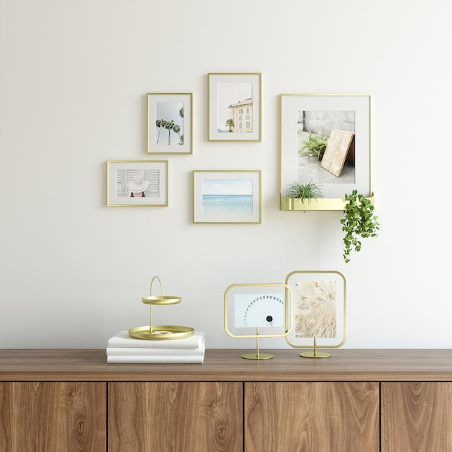 Infinity Rectangle Photo Display - Large - Brass - 10
