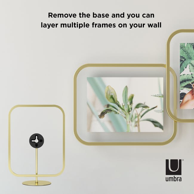 Infinity Rectangle Photo Display - Large - Brass - 8