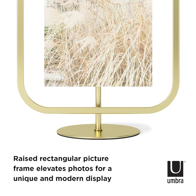 Infinity Rectangle Photo Display - Large - Brass - 6