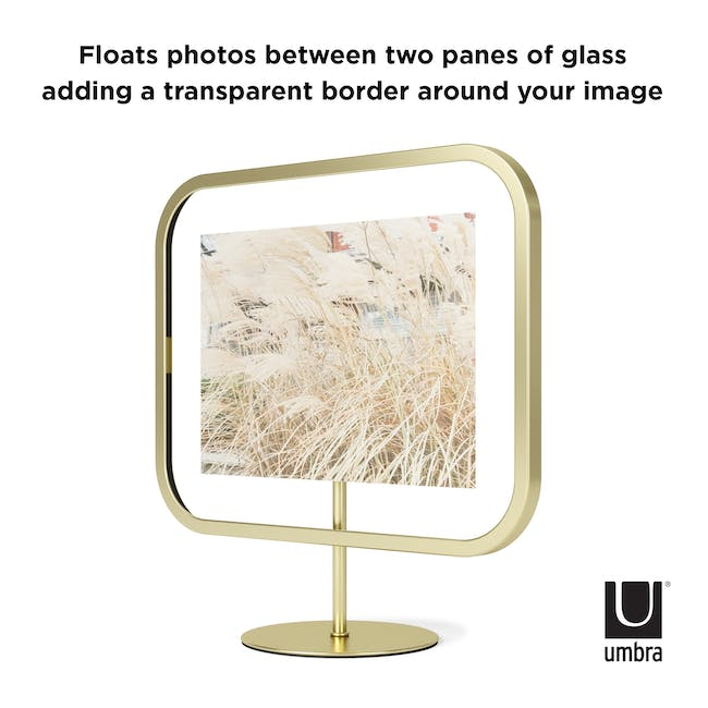 Infinity Rectangle Photo Display - Large - Brass - 5