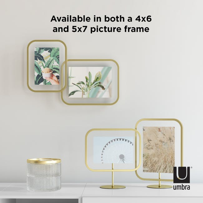 Infinity Rectangle Photo Display - Large - Brass - 7