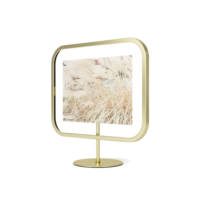 Infinity Rectangle Photo Display - Large - Brass - 3