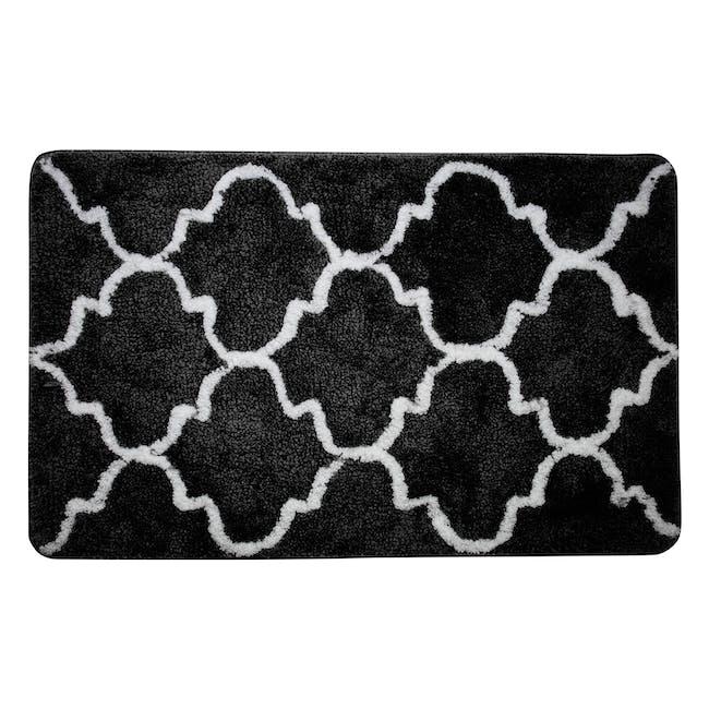 Lattice Floor Mat - Black - 0