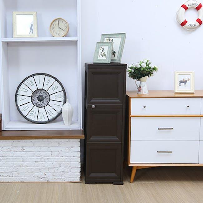 Omnimodus 6 Shelves Shoe Cabinet - Grey - 2