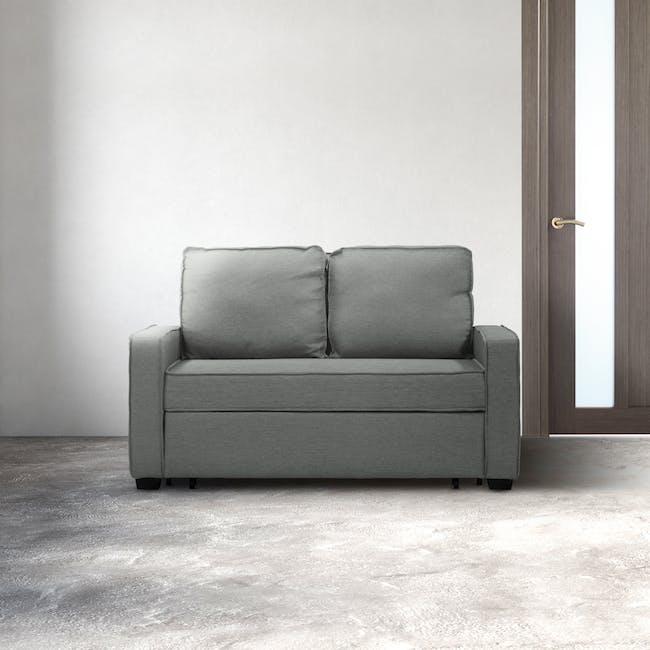 Arturo 2 Seater Sofa Bed - Pigeon Grey - 1