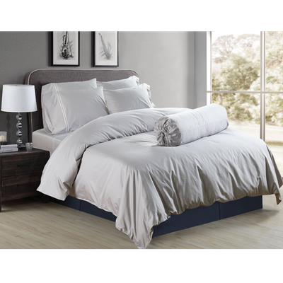 (King) Hotelier Prestigio™ 6-pc Bedding Set - Grey Silver Embroidery - Image 1