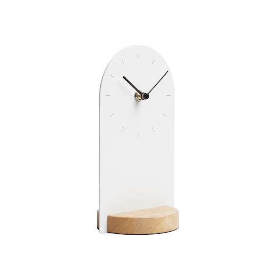 Umbra - Sometime Desk Clock - White, Natural