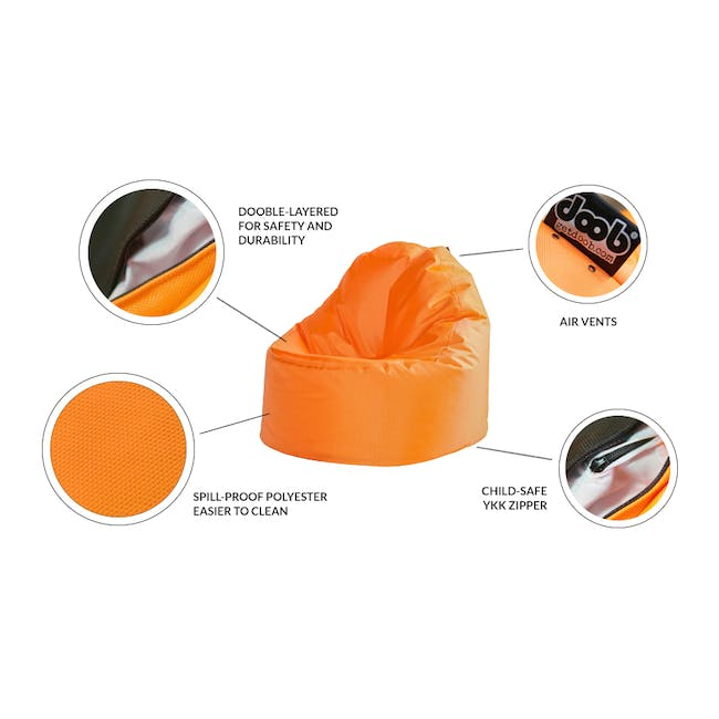 Oomph Mini Spill-Proof Bean Bag - Candy Pink - 1