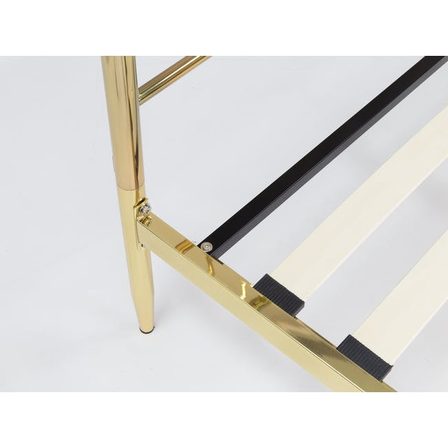 Giselle Single Bed - Brass - 7