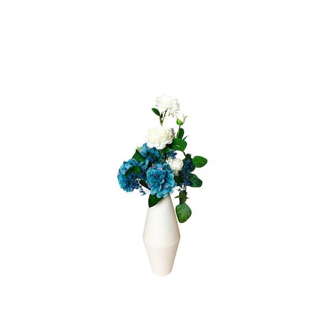 Diamond Floral Clay Vase - Design 5 - 0