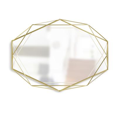 Prisma Mirror/Tray 57 x 43 cm - Brass - Image 1
