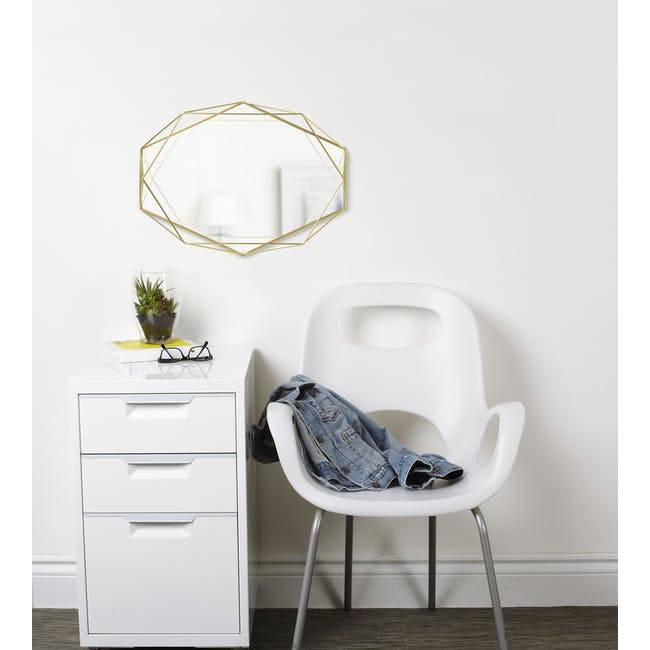 Prisma Mirror/Tray 57 x 43 cm - Brass - 3