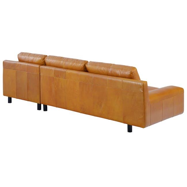 Wyatt L-Shaped Sofa - Butterscotch (Premium Waxed Leather) - 4