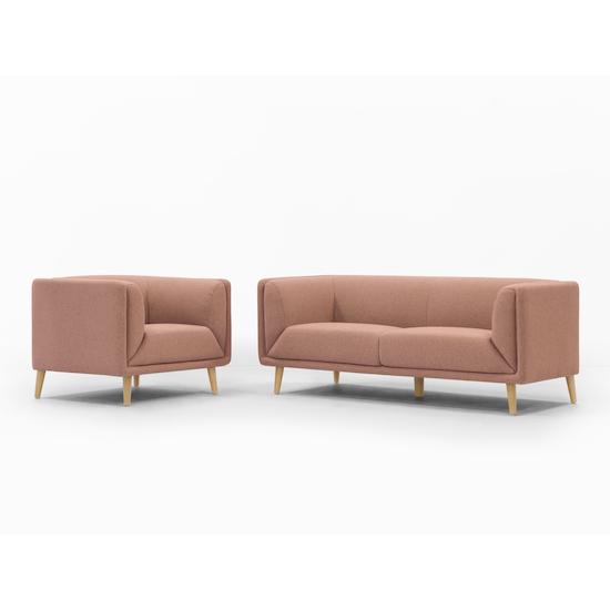 Audrey Loveseat Blush Apartment Sofas By Hipvan Hipvan