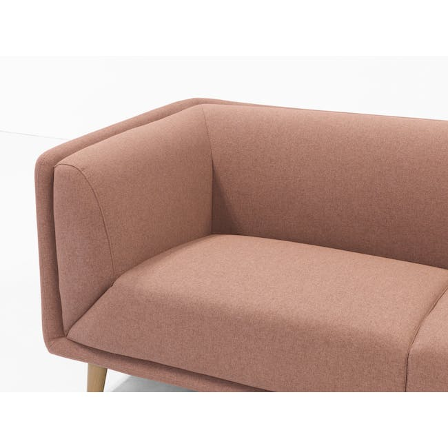Audrey 2 Seater Sofa with Audrey Armchair - Blush - 9
