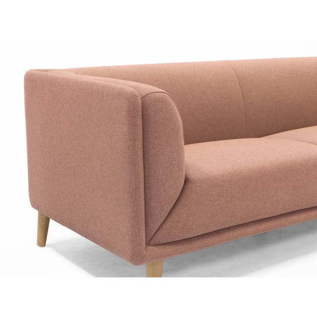 Audrey 2 Seater Sofa with Audrey Armchair - Blush - 13