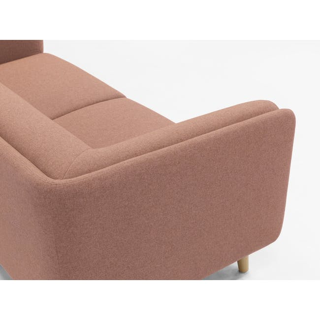 Audrey 2 Seater Sofa with Audrey Armchair - Blush - 14