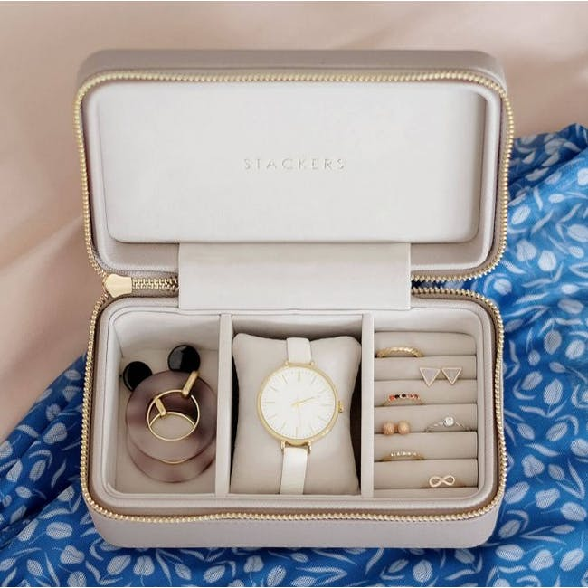Stackers Watch Travel Jewellery Box - Taupe - 2