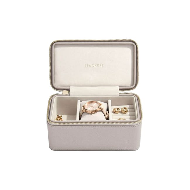 Stackers Watch Travel Jewellery Box - Taupe - 0