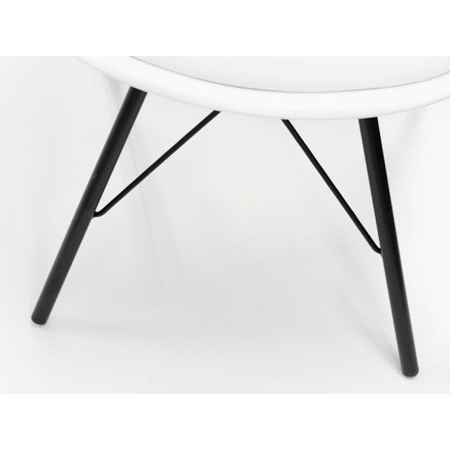 Axel Chair - Black, White - 7
