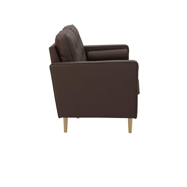 Royce 3 Seater Sofa -  Mocha (Faux Leather) - 2
