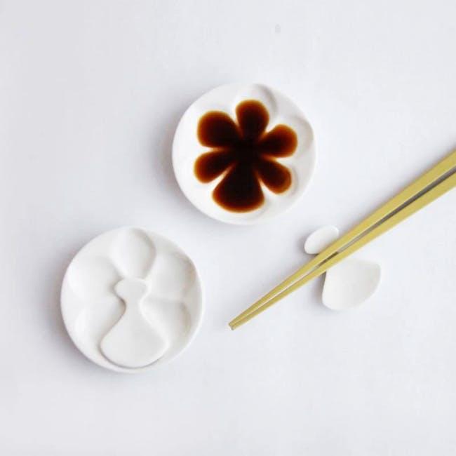 Red Republic Orchid Saucer + Chopstick Rest (set of 2) - 1