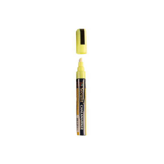 Securit Liquid Chalk Marker With 2-6Mm Tip - Yellow - 0
