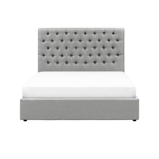 Isabelle Queen Storage Bed - Silver Fox (Fabric) - 0