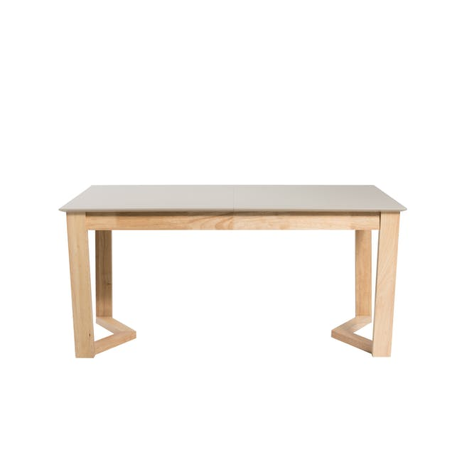 Meera Extendable Dining Table 1.6m - Natural, Taupe Grey - 8