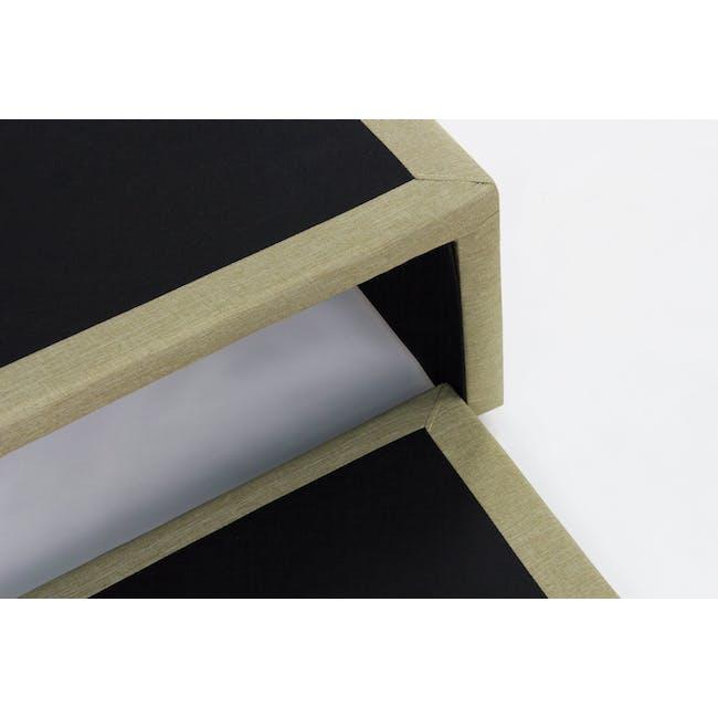 ESSENTIALS Super Single Trundle Bed - Khaki (Fabric) - 11