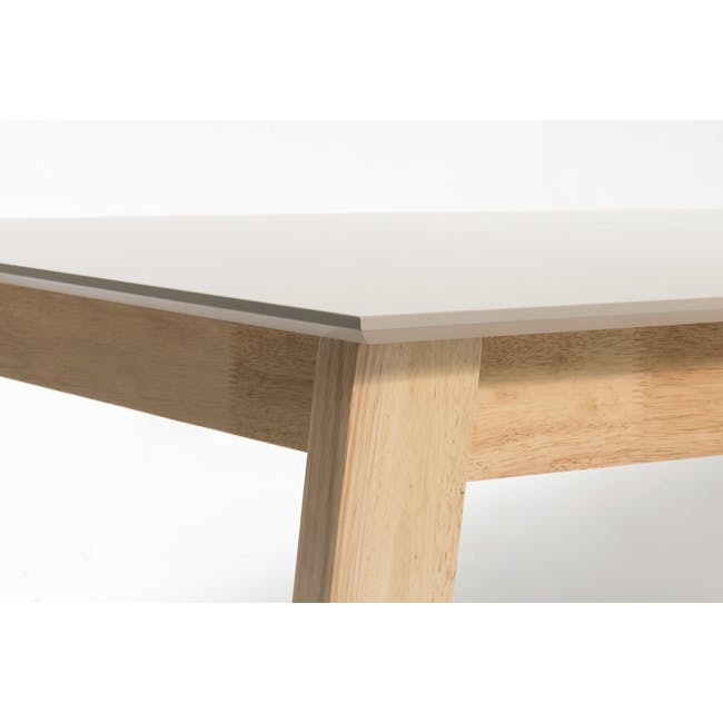 Meera Extendable Dining Table 1.6m - Natural, Taupe Grey - 15