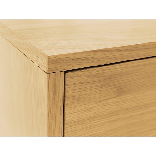 Kyoto Twin Drawer Bedside Table - Oak - 7