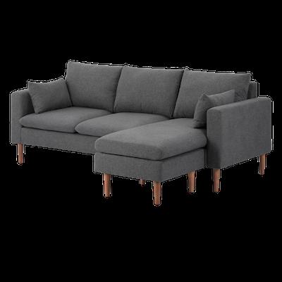 Alicia L Shape Sofa - Dark Grey - Image 2