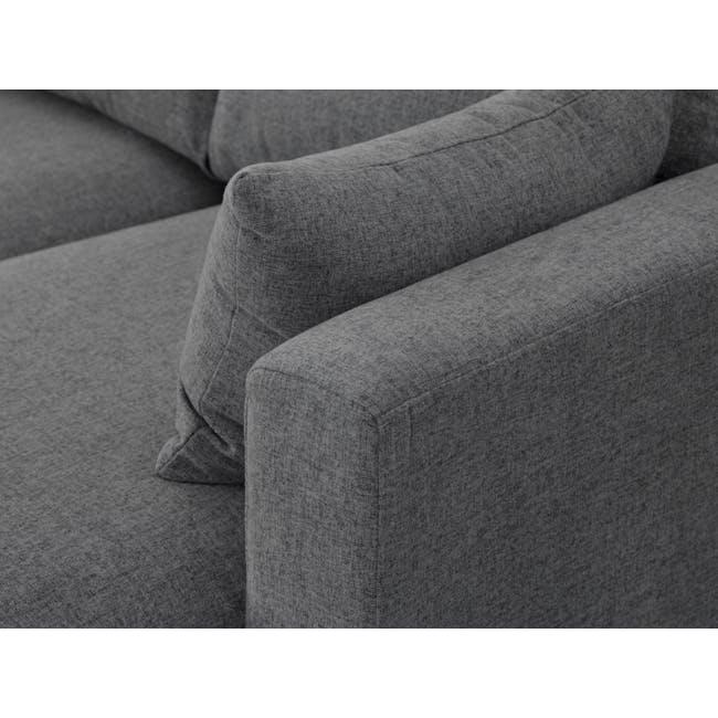 Alicia L-Shaped Sofa - Charcoal Grey - 6