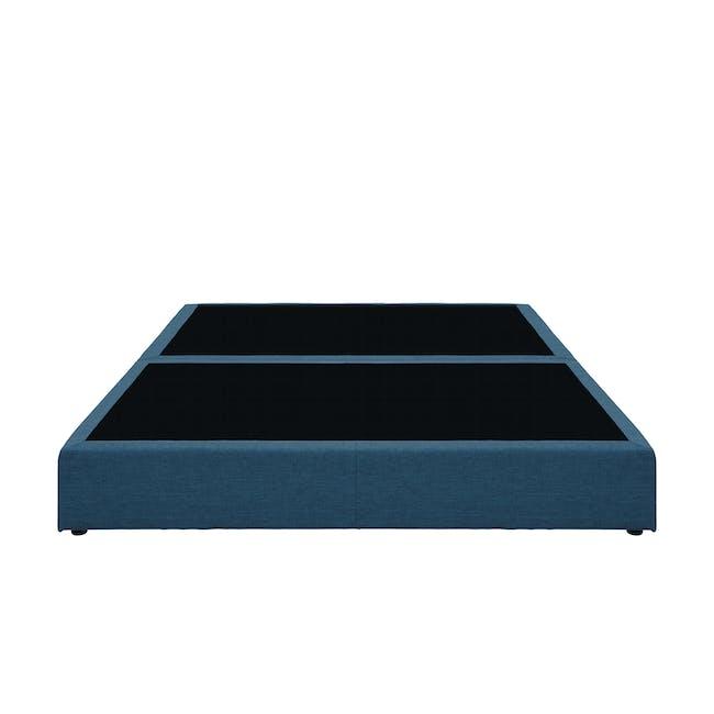 ESSENTIALS Queen Box Bed - Denim (Fabric) - 1