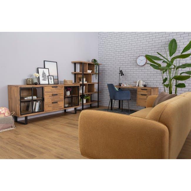 Miura 3 Seater Sofa - Turmeric (Easy Clean Fabric) - 3