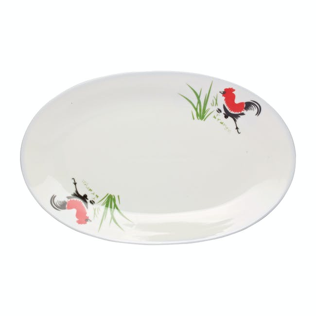 Rooster Oval Dish - 1