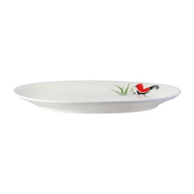 Rooster 12 Inch Oval Dish - Image 1