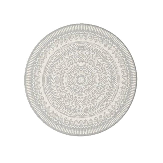 Essenza Round Flatwoven Rug 1.2m - Grey Mandala - 4