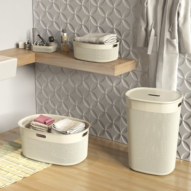 Filo Laundry Basket - Colonial Taupe - 2