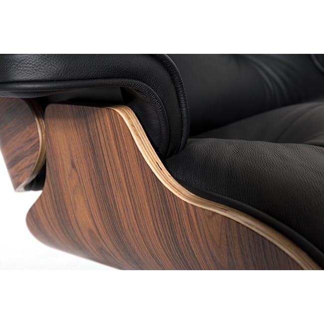 Eames Lounge Chair and Ottoman Replica - Black (Genuine Cowhide) - 7