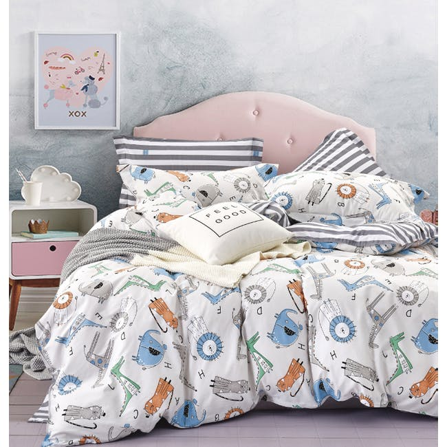 (Queen) Little Monsters 5-pc Bedding Set - 0