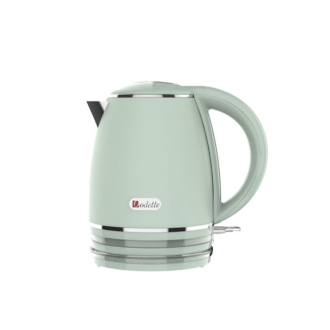 Odette Riviera 1L Insulated Double Wall Cool Touch Electric Kettle - Light Green - 0