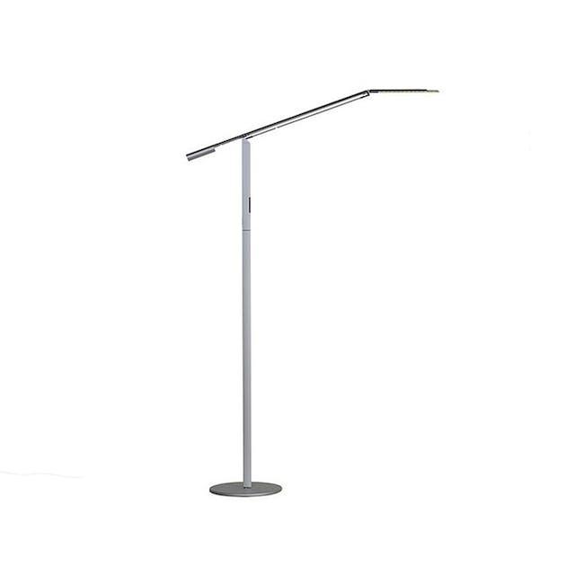 Koncept Equo LED Floor Lamp - Silver - 0