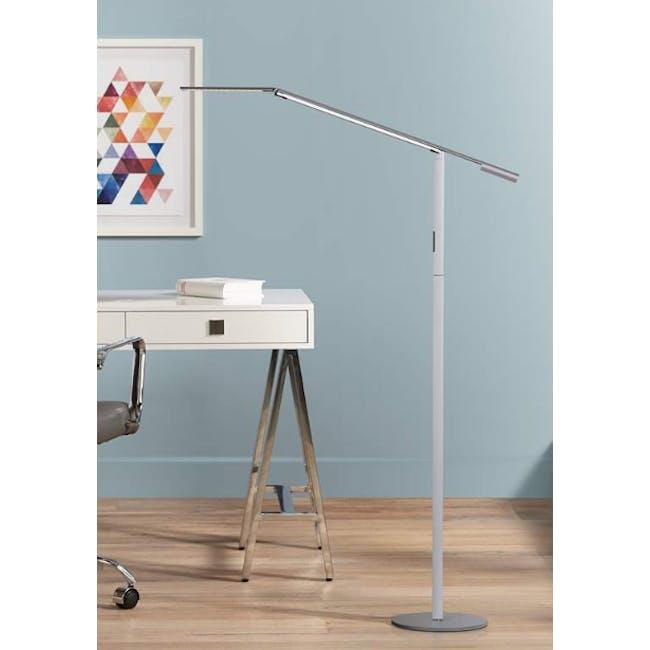 Koncept Equo LED Floor Lamp - Silver - 1
