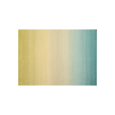 Aqua Fading Sun 100% New Zealand Wool Rug (2m by 3m) - Image 1