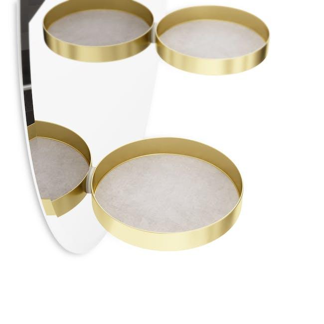 Perch Round Mirror with Shelf 60 cm - Brass - 6