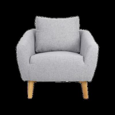 Hana Armchair- Light Grey - Image 1