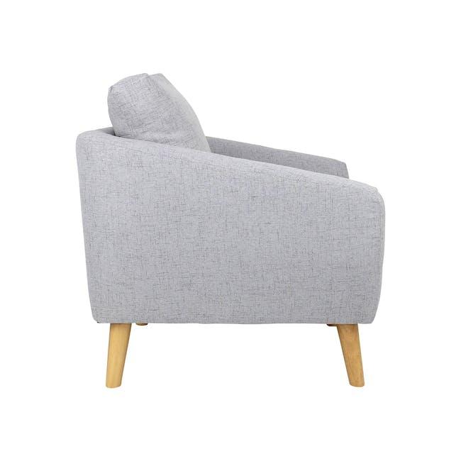 Hana 2 Seater Sofa with Hana Armchair - Light Grey - 4