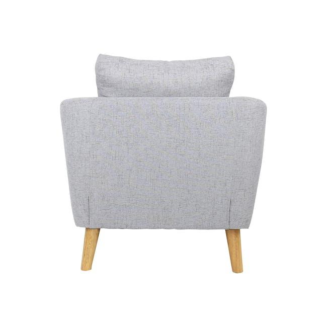Hana 2 Seater Sofa with Hana Armchair - Light Grey - 5
